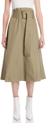 Cavallini Erika Wide Belt Midi Skirt