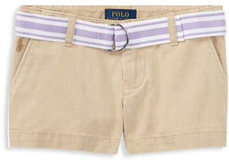 Ralph Lauren Belted Cotton Chino Shorts