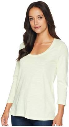 Mod-o-doc Slub Jersey 3/4 Sleeve Scoop Neck Tee Women's T Shirt