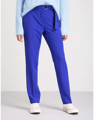 Claudie Pierlot High-rise crepe tapered trousers
