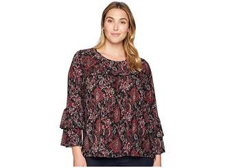 MICHAEL Michael Kors Size Sweetheart Tier Sleeve Top