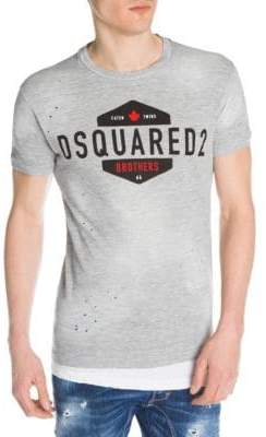 DSQUARED2 Distressed Logo Graphic Tee