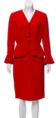 Givenchy Flounced Knee-Length Skirt Suit