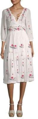 Raga Sammy Floral Midi Peasant Dress