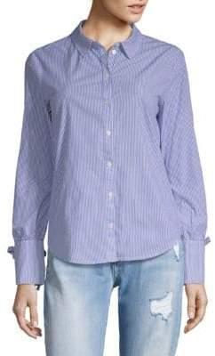 Sanctuary Lace-Up Stripe Shirt