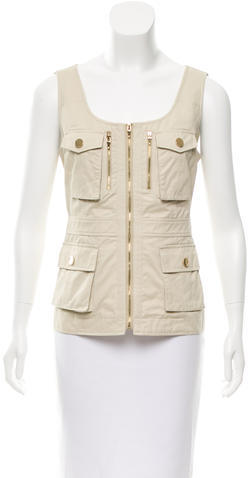 Tory BurchTory Burch Zip-Accented Utility Vest