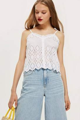 Topshop Broderie Camisole Top