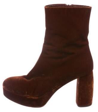 Miu Miu Velvet Platform Boots