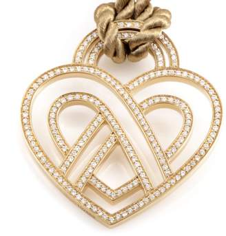 FRAMe WORK Poiray Wire Heart Framework 18K Yellow Gold Diamond Pendant & Cord Necklace