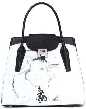 Michael Kors Printed Two-tone Leather Tote