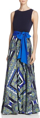 Eliza J Scarf-Print Maxi Dress $158 thestylecure.com