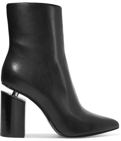 Alexander Wang - Kirby Leather Ankle Boots - Black