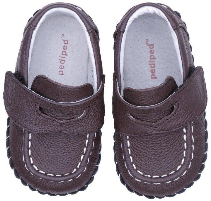 pediped Originals Charlie (Infant) - Chocolate-0-6 Months