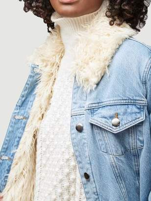 Frame Curly Shearling Jacket