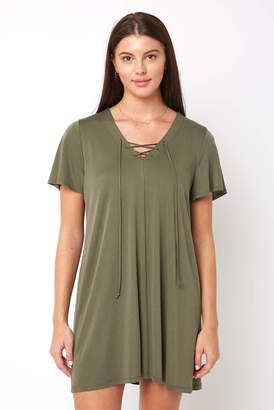 Abbeline Lace Up Mini Dress