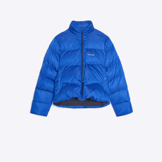 Balenciaga C shape down jacket in technical ripstop