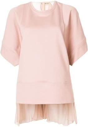 No.21 sheer panel blouse