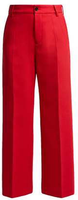 MM6 MAISON MARGIELA High Rise Straight Leg Trousers - Womens - Red