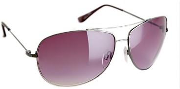 Silver aviator sunglasses