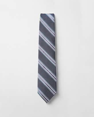 Express Multi Stripe Narrow Silk Blend Tie