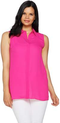 Joan Rivers Classics Collection Joan Rivers Sleeveless Flowy Blouse