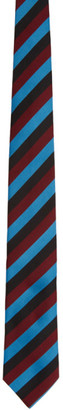 Prada Black Jacquard Logo Tie