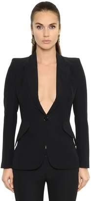 Alexander McQueen Single Breasted Grain De Poudre Jacket