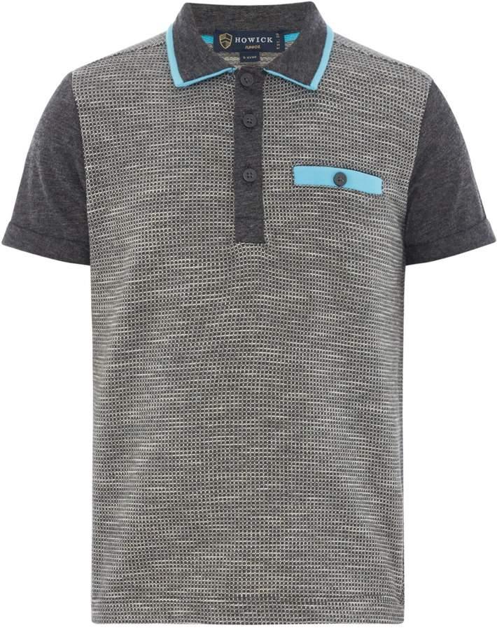Howick Junior Boys Shirt Sleeve Textures Polo Tshirt