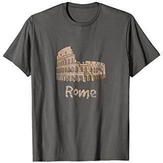 Colosseum Rome Italy Vintage Style Souvenir T-shirt