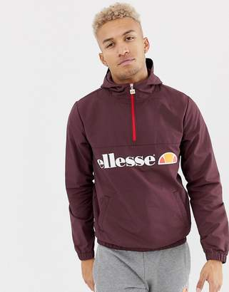 Ellesse Festi Overhead Jacket With Logo In Burgundy