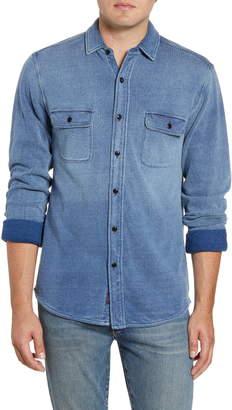 Faherty Regular Fit Knit Dobby Work Shirt