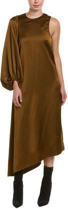 Tibi Satin Midi Dress