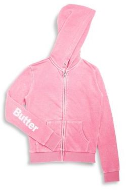 Girl's Butterfly Applique Hoodie $68 thestylecure.com
