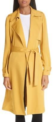 Theory Oaklane Modern Silk Trench Coat