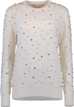 ad0b9950f0c1 Michael Kors Pearl Embroidered Sweater