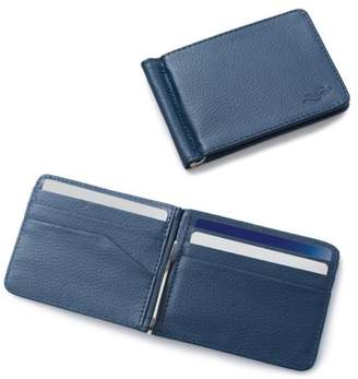 Zodaca Mens Stylish Thin Leather Wallet Bifold Slim ID Credit Card Holder with Removable Money Clip - Dark Blue