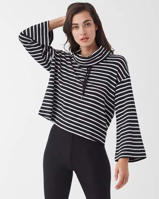 Splendid Super Soft French Terry Neptune Stripe Crop Top