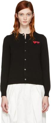 Comme des Garçons Play Black Double Heart Cardigan $365 thestylecure.com