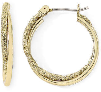 JCPenney MONET JEWELRY Monet Gold-Tone Small Twist Hoop Earrings