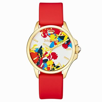 Juicy Couture Women's 1901388 Jetsetter Analog Display Japanese Quartz Red Watch $145 thestylecure.com