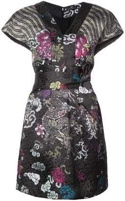 Natori tie waist patterned dress