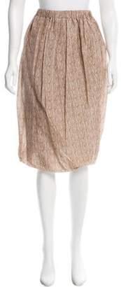 Bottega Veneta Knee-Length Printed Skirt w/ Tags Brown Knee-Length Printed Skirt w/ Tags