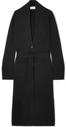 Allude Wool And Cashmere-blend Cardigan - Black