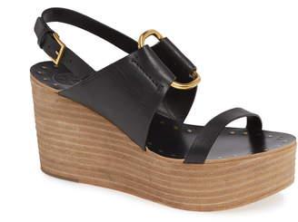 d035b88ca886 Tory Burch Black Platform Wedge Women s Sandals - ShopStyle