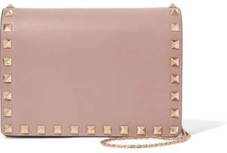 Valentino Garavani The Rockstud Leather Shoulder Bag - Blush
