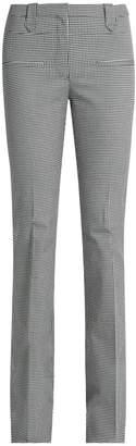 Altuzarra Serge hound's-tooth wool-blend flared trousers