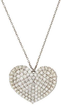 Vera Wang Diamond Heart Pendant Necklace $895 thestylecure.com