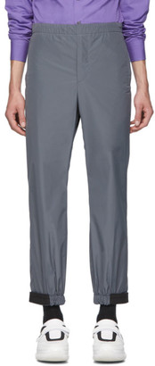 Prada Grey Techno Poplin Travel Trousers