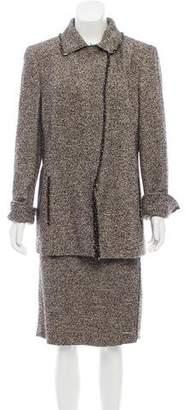 Akris Wool Tweed Skirt Set