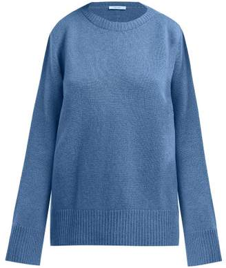 The Row Sibel Wool And Cashmere Blend Sweater - Womens - Blue